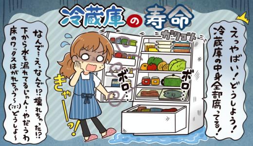 冷蔵庫の寿命は何年?買い替え時期の判断方法や寿命の計算方法を分かりやすく紹介します。