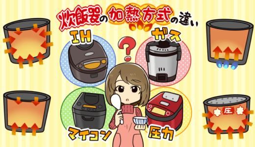 炊飯器のタイプ(IHとマイコンとガス)の違いを徹底比較。どれがオススメ?
